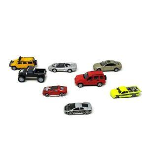 Lote-de-juguetes-de-8-Coches-de-Juguete-Corvette-Indy-Lamborghini-S-10-Liberty-BMW-328i-Hummer