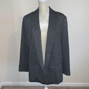 Bar-III-Womens-Suit-Blazer-Jacket-Charcoal-Grey-Size-XL-N240