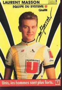 LAURENT-MASSON-SYSTEME-U-Signed-Autographe-cycling-cyclisme-signe-TOUR-DE-FRANCE