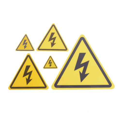 2PCS Danger High Voltage Electric Warning Safety Label Sign Decal Sticker  Du