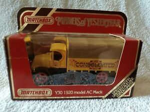 DIECAST-MODEL-MATCHBOX-YESTERYEAR-Y30-AC-MACK-CONSOLIDATION-LIMITED-EDT-TRUCK