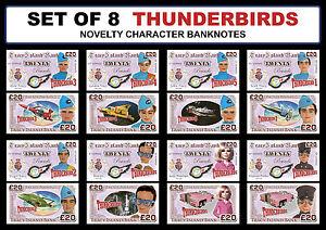 Set-di-8-THUNDERBIRDS-Novita-carattere-banconote