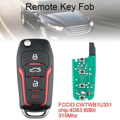 labwork Remote Fold Key Fob 315MHz CWTWB1U331 Fits for 2005-2013 Ford Mustang