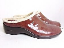 COLE HAAN NIKE AIR 6 B WATERPROOF PATENT LEATHER CLOGS $185