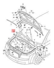 GENUINE Rear Lid Stop Left = Right Audi A4 Avant S4 RS4 quattro 8E 8E5827797A