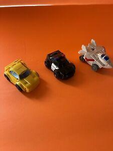 2011 Transformers Mini Bot Shots Action Figures Lot of 3Vehicle's Tomy Hasbro