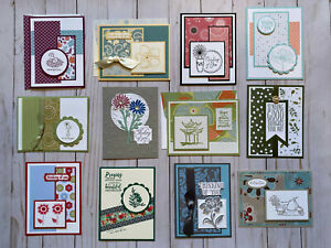 12-Handmade-Thinking-of-You-greeting-cards-envelopes-Stampin-039-Up-more