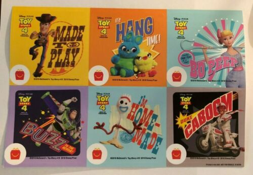 Buzz Bo Peep 12 2019 McDonalds Toy Story 4 Lot of Different STICKERS Woody