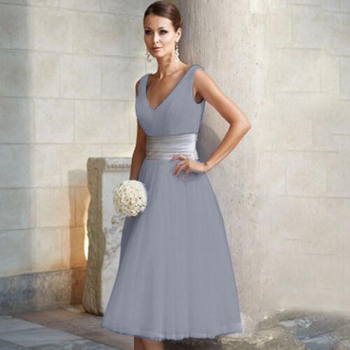 Damen Hochzeit Brautjungfer Partykleid Cocktail Abendkleid Brautkleid Ball Mode