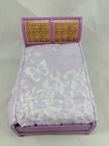 Fisher-Price-Loving-Family-Dollhouse-Bedroom-Double-Bed-Purple-Comforter