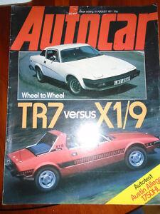 Autocar 13877 Austin Allegro Ii Triumph Tr7 Vs Fiat X19 Ebay