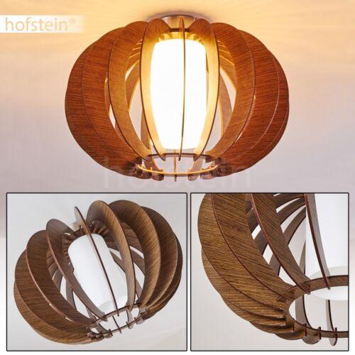 Holz Flur Dielen Lampen rund Decken Leuchten Glas Wohn Schlaf Raum Beleuchtung