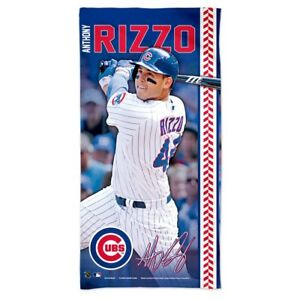 """ANTHONY RIZZO #44 CHICAGO CUBS 30""""X60"""" SPECTRA BEACH TOWEL NEW WINCRAFT"""