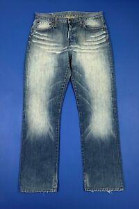 Replay-914-W34-L32-tg-48-jeans-uomo-usato-gamba-dritta-blu-denim-boyfriend-T5671