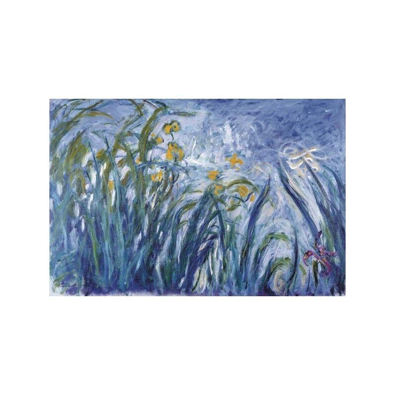 Quadro Quadro Quadro su Tela con Telaio Claude Monet Les iris | Belle Qualité  47f2b0