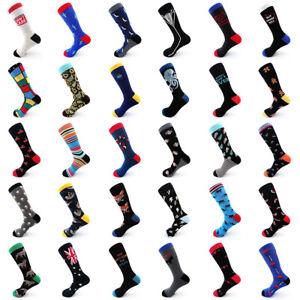 Mens-Cotton-Socks-Casual-Animal-Fruit-Funny-Crew-Painting-Harajuku-Long-Socks