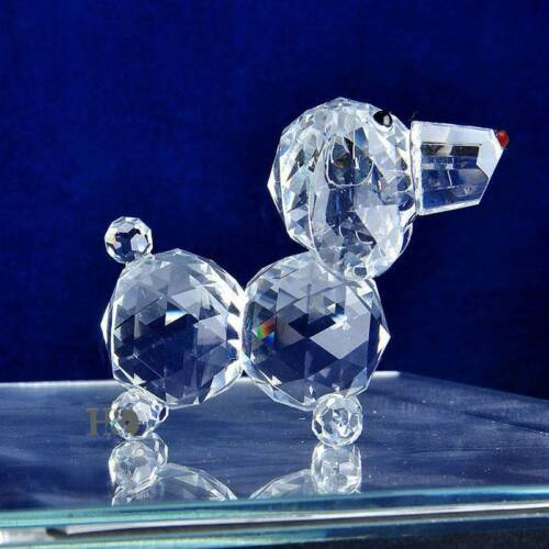 Useful Crystal Glass Dog Figurines Crafts Table Ornament Home Decor Wedding Gift