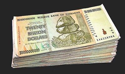 100 Zimbabwe 1 Dollar banknotes-full bundle