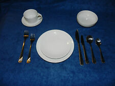 RARE PAN AM AIRLINES WAVE PATTERN CHINA AND SILVERWARE BAUSCHER WEIDEN BAVARIA