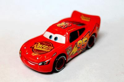Disney Pixar Cars 2 Lightning Mcqueen With Rust Eze Logo On Tail