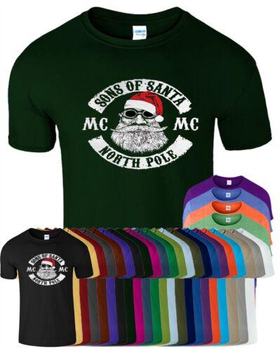 Figli di Santa Kids T Shirt Natale regalo TOP TEE T-shirt