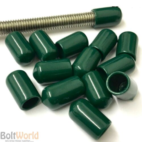 GREEN ROD BAR STUDDING STUD SCREWS BOLTS CABLE SAFETY VINYL THREAD COVER CAPS
