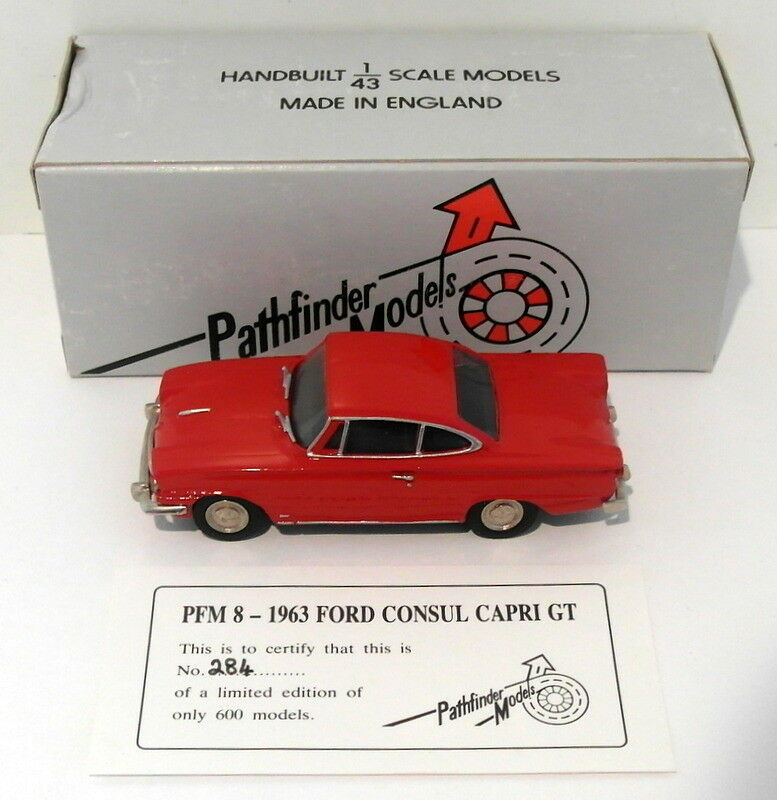 tienda en linea Pathfinder Models  Scale PFM8 - 1963 Ford Consul Consul Consul Capri 1 Of 600 Rojo  Ahorre hasta un 70% de descuento.