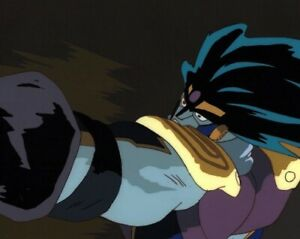 Jojo's Bizarre Adventure Anime Cel Douga Jotaro Stand Star Platinum vs. Dio 1993
