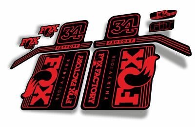 FOX 34 Float 2018-19 Forks Suspension Factory Decals Sticker Adhesive Red Blue