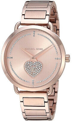 Michael Kors MK3827 Portia Rose Gold Dial Rose Gold Stainless Women's Watch | eBay