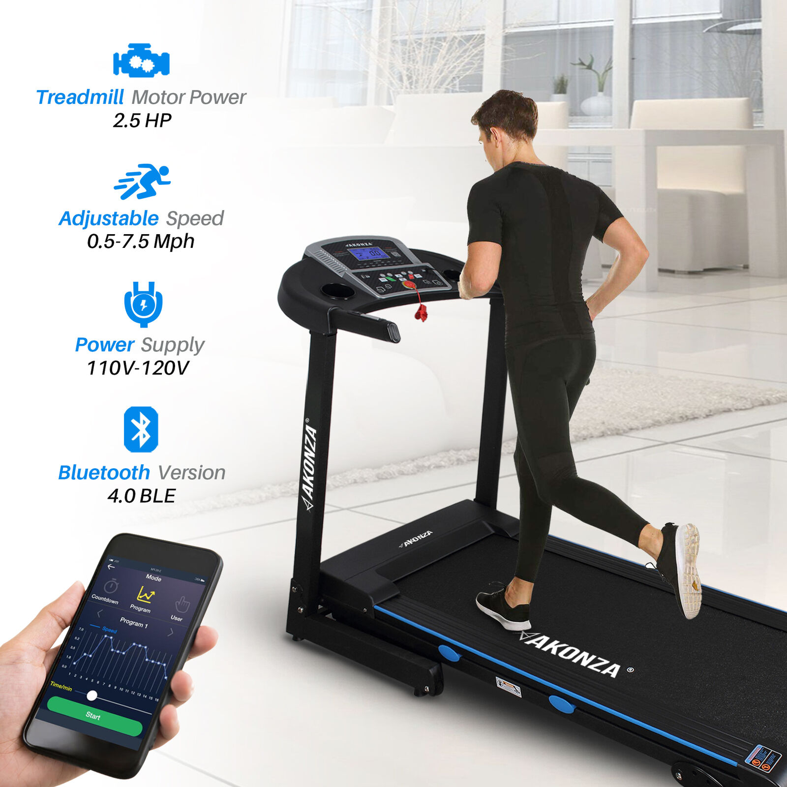 Portable Foldable Electric 110V Motorized Running Cardio Fitness Treadmill   best prices