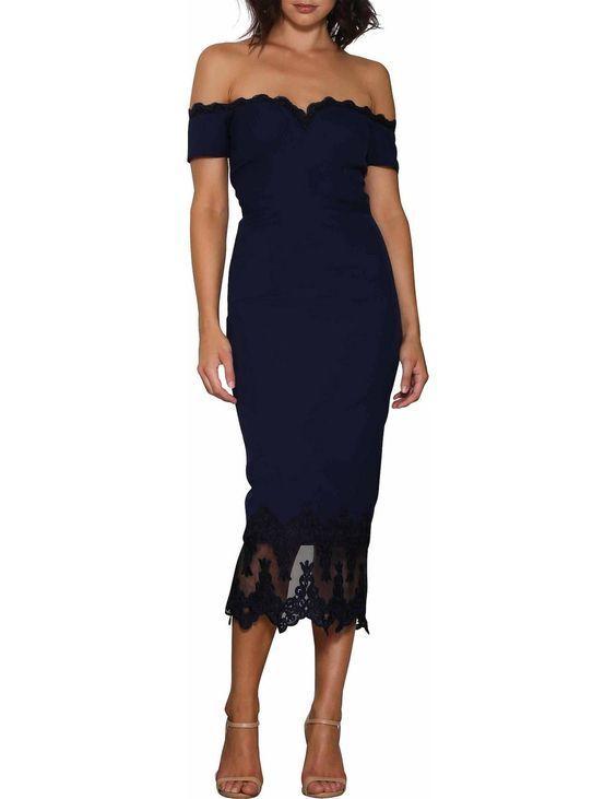 ELLE ZEITOUNE Lillian dress Midnight bluee BNWT Size 14