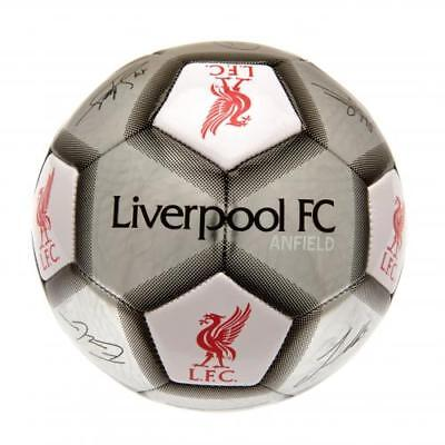 Liverpool Argent Football signature taille 5 Fan Ball cadeau nouveau Official Licensed