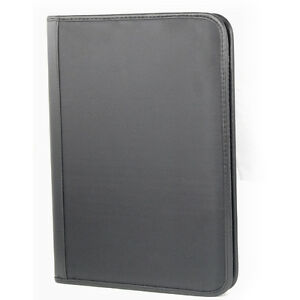 A4-PORTFOLIO-PU-Leather-Business-Folder-Case-ZIPPED-Organiser-Holds-Notepad-ID