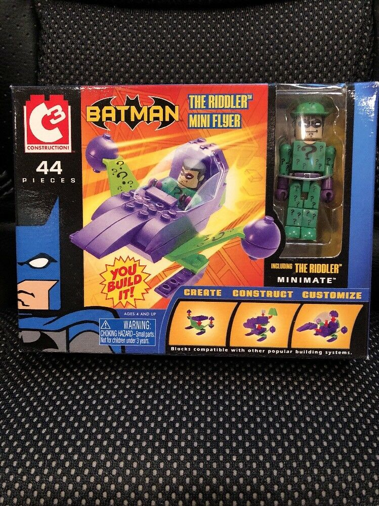 DC C3 Construction Riddler Mini Flyer with Mini-mates New in Box