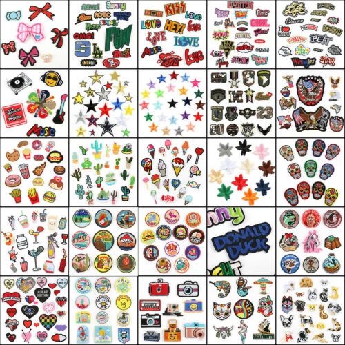 DIY Embroidered Patches Iron Sew On Patches Badges Appliques 1 Bag Lots Pattern
