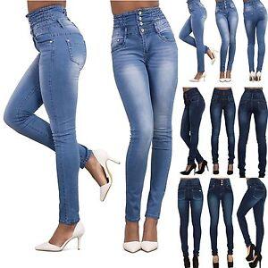 ec6708cacefb 2017 Sexy Women Denim Skinny Pants High Waist Stretch Jeans Slim ...