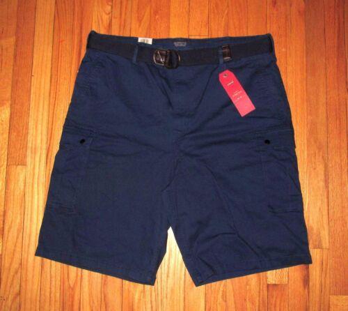 Levis Mens Dark Blue 2-Way Stretch Cargo Shorts and Belt 30, 34, 42 NWT