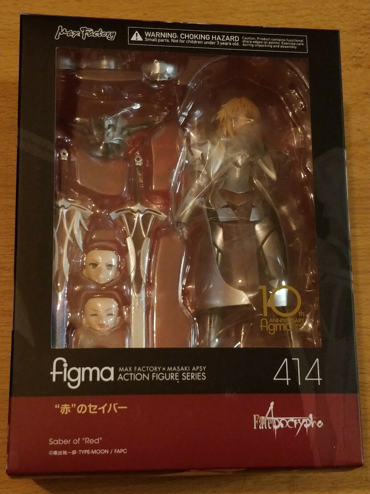FATE APOCRYPHA SABER OF RED (MORDRED) FIGMA FIGURE FIGURE FIGURE - NEW AND SEALED 523