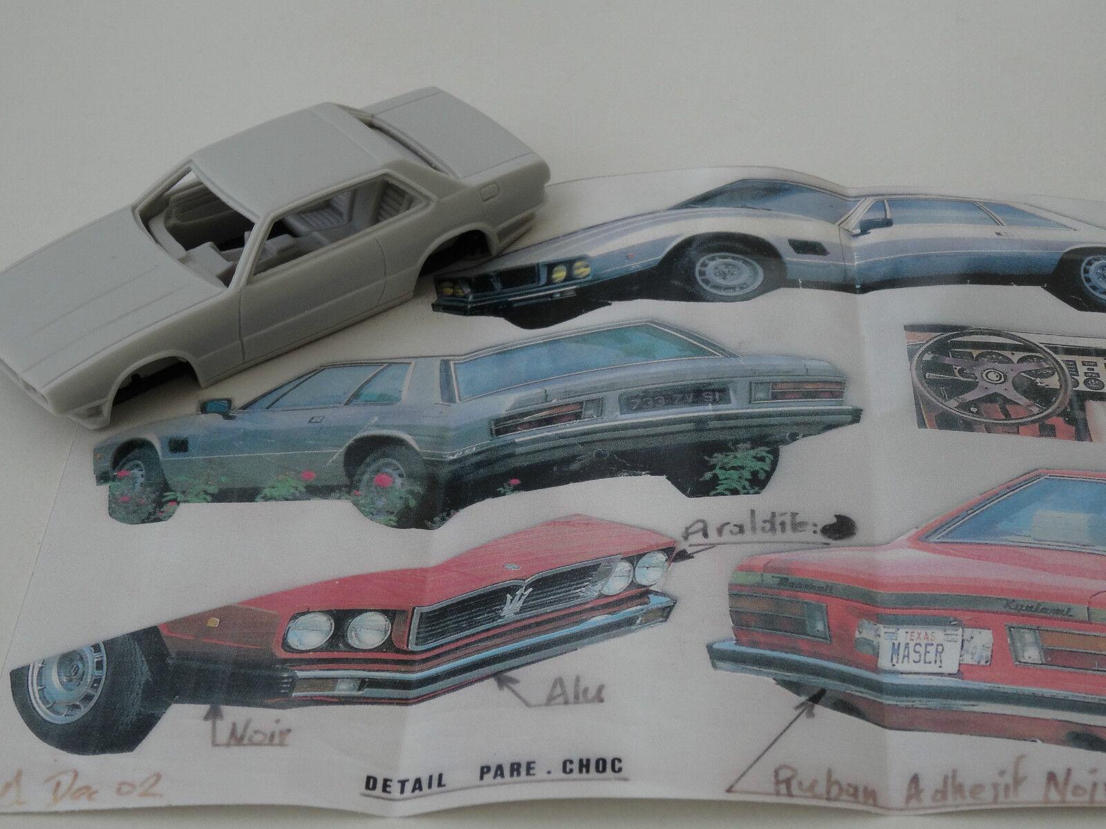 ALEZAN MODELS . 1 43 . MASERATI KYALAMI V8 1978 .