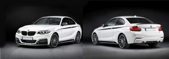 BMW F22 F23  M SPORT M Performance  Side skirt sills stickers Decals 2 series