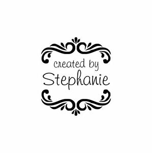 UNMOUNTED-PERSONALIZED-039-CREATED-BY-039-RUBBER-STAMPS-C120