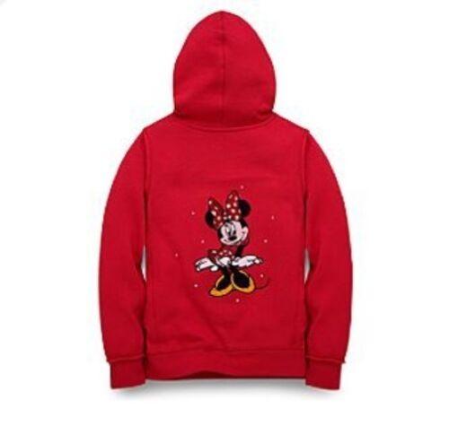 NEW Disney Minnie Mouse Girls Fleece Pullover Hoodie Sweatshirt Jacket Sz S or L