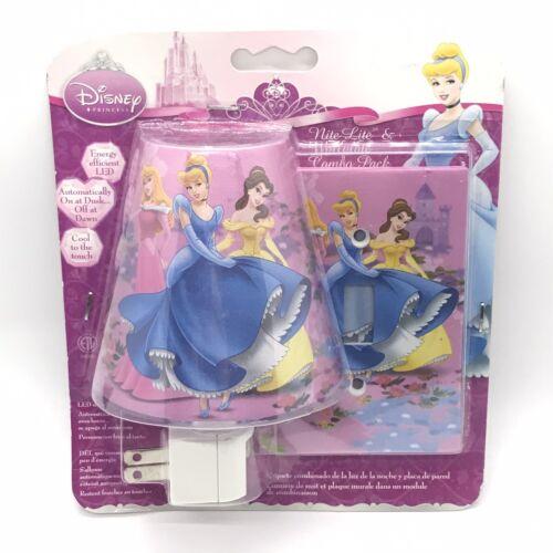 Disney Princess LED Nite Light /& Wallplate Combo Belle Sleeping Beauty Aurora
