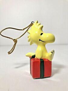 Vintage-Peanuts-Woodstock-Christmas-Ornament-Japan-1965-United-Feature-UFS