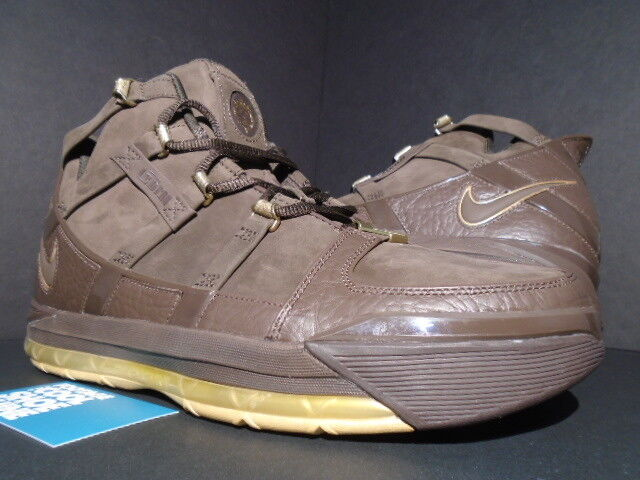 2006 NIKE ZOOM LEBRON III 3 BIRTHDAY BAROQUE BROWN gold MVP 312147-221 NEW 11.5