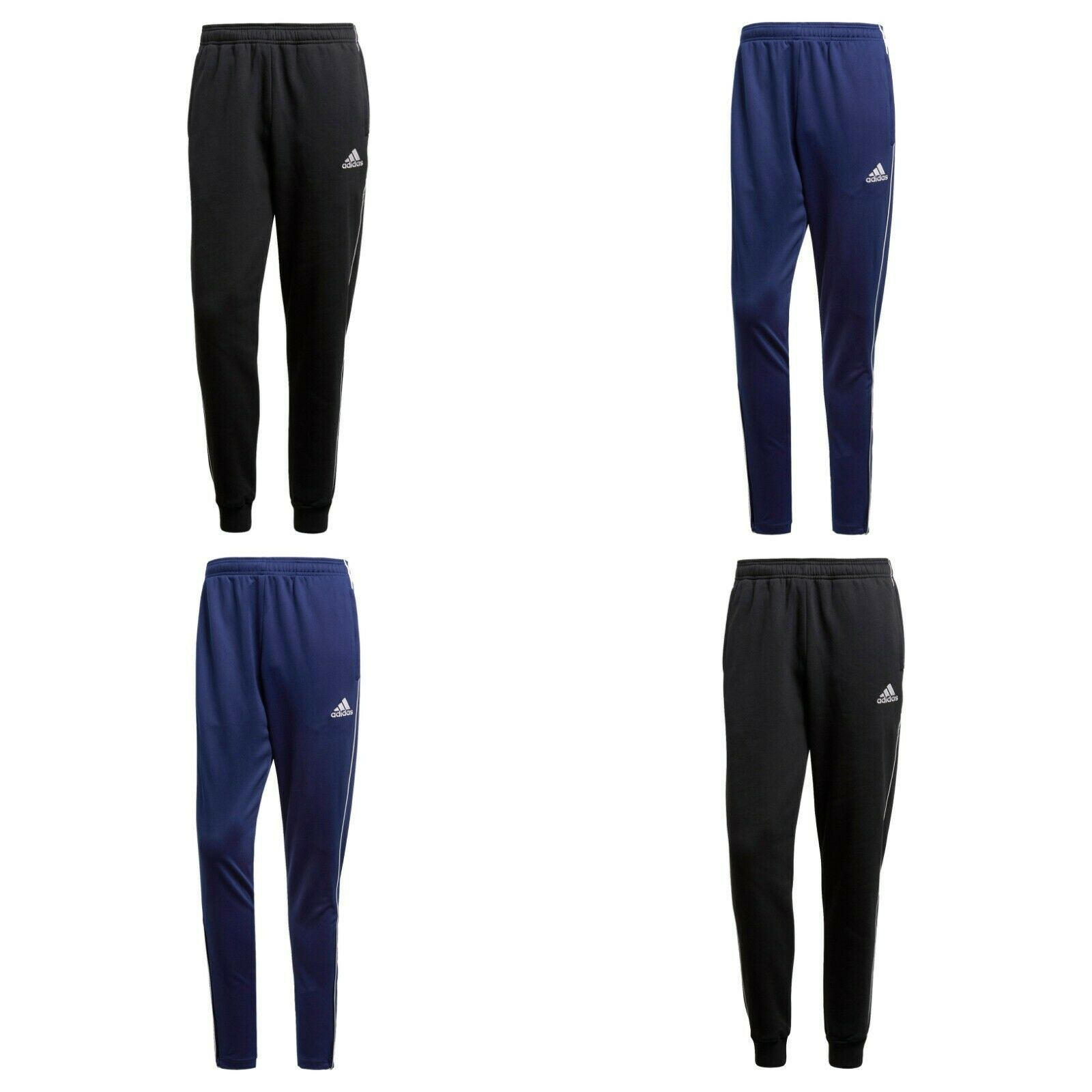 Adidas Mens Core 18 Joggers Tracksuit Bottoms Trouser Sports Running Sweat Pant