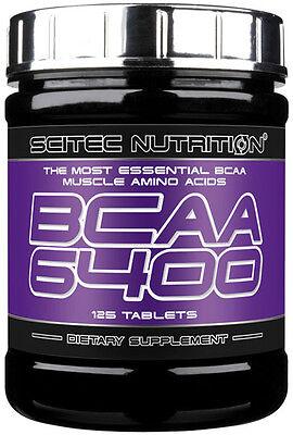 Scitec BCAA 6400 - 125 TABS Essential BCAA Amino Acids (BCAA's)