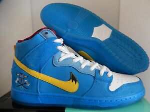 Image is loading NIKE-DUNK-HIGH-PREMIUM-SB-PHOTO-BLUE-YELLOW-