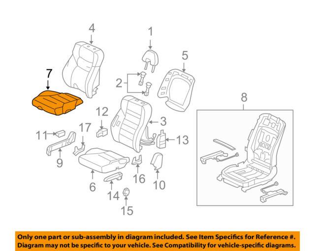 Honda Genuine 81531-SH0-A11ZC Seat Cushion Cover